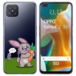 Funda Gel Transparente para Oppo Reno 4Z 5G diseño Conejo Dibujos