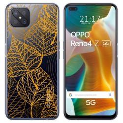 Funda Gel Transparente para Oppo Reno 4Z 5G diseño Hojas Dibujos
