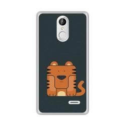 Funda Gel Tpu para Leagoo M5 Plus Diseño Tigre Dibujos