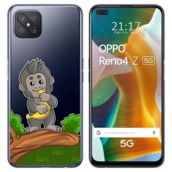 Funda Gel Transparente para Oppo Reno 4Z 5G diseño Mono Dibujos
