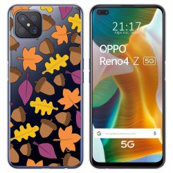 Funda Gel Transparente para Oppo Reno 4Z 5G diseño Otoño Dibujos