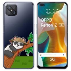 Funda Gel Transparente para Oppo Reno 4Z 5G diseño Panda Dibujos