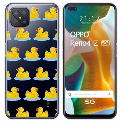Funda Gel Transparente para Oppo Reno 4Z 5G diseño Pato Dibujos