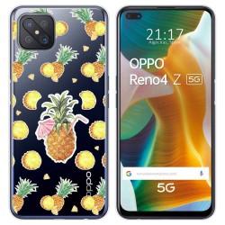 Funda Gel Transparente para Oppo Reno 4Z 5G diseño Piña Dibujos