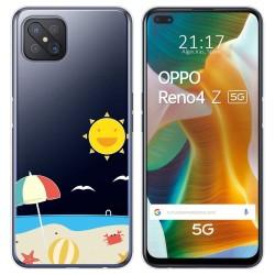 Funda Gel Transparente para Oppo Reno 4Z 5G diseño Playa Dibujos