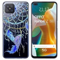 Funda Gel Transparente para Oppo Reno 4Z 5G diseño Plumas Dibujos