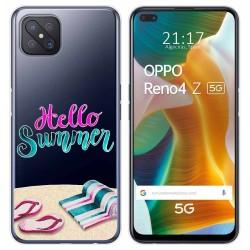 Funda Gel Transparente para Oppo Reno 4Z 5G diseño Summer Dibujos
