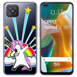 Funda Gel Transparente para Oppo Reno 4Z 5G diseño Unicornio Dibujos