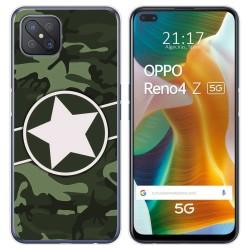 Funda Gel Tpu para Oppo Reno 4Z 5G diseño Camuflaje 01 Dibujos