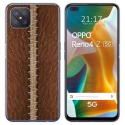 Funda Gel Tpu para Oppo Reno 4Z 5G diseño Cuero 01 Dibujos