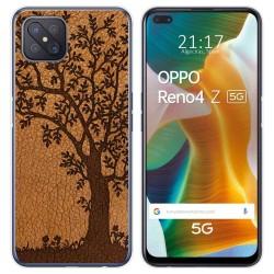 Funda Gel Tpu para Oppo Reno 4Z 5G diseño Cuero 03 Dibujos