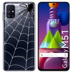 Funda Gel Transparente para Samsung Galaxy M51 diseño Araña Dibujos