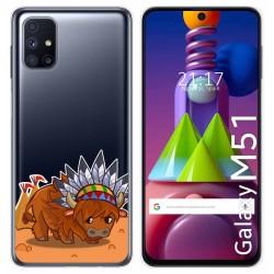 Funda Gel Transparente para Samsung Galaxy M51 diseño Bufalo Dibujos