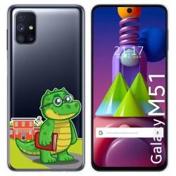 Funda Gel Transparente para Samsung Galaxy M51 diseño Coco Dibujos