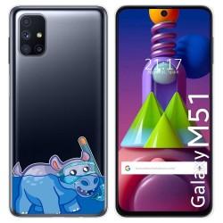 Funda Gel Transparente para Samsung Galaxy M51 diseño Hipo Dibujos