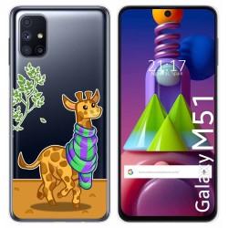 Funda Gel Transparente para Samsung Galaxy M51 diseño Jirafa Dibujos