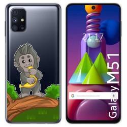 Funda Gel Transparente para Samsung Galaxy M51 diseño Mono Dibujos