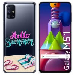 Funda Gel Transparente para Samsung Galaxy M51 diseño Summer Dibujos