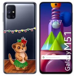Funda Gel Transparente para Samsung Galaxy M51 diseño Suricata Dibujos