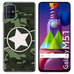 Funda Gel Tpu para Samsung Galaxy M51 diseño Camuflaje 01 Dibujos