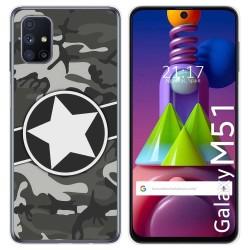 Funda Gel Tpu para Samsung Galaxy M51 diseño Camuflaje 02 Dibujos