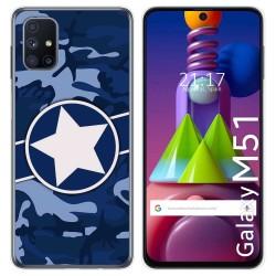 Funda Gel Tpu para Samsung Galaxy M51 diseño Camuflaje 03 Dibujos
