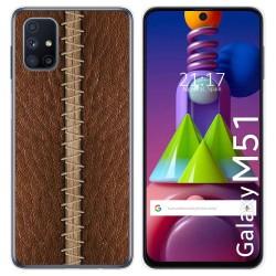 Funda Gel Tpu para Samsung Galaxy M51 diseño Cuero 01 Dibujos