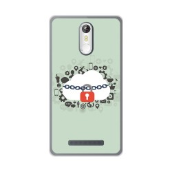 Funda Gel Tpu para Leagoo M8 / M8 Pro Diseño Nube Dibujos