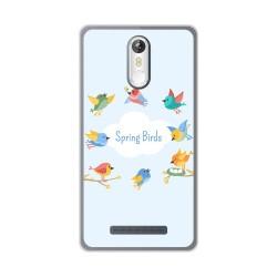 Funda Gel Tpu para Leagoo M8 / M8 Pro Diseño Spring Birds Dibujos