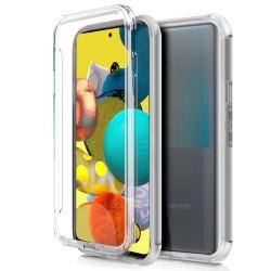 Funda Completa Transparente Pc + Tpu Full Body 360 para Samsung Galaxy A51 5G