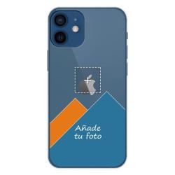 Personaliza tu Funda Gel Silicona Transparente con tu Fotografia para Iphone 12 / 12 Pro (6.1) dibujo personalizada