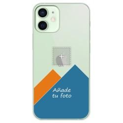 Personaliza tu Funda Gel Silicona Transparente con tu Fotografia para Iphone 12 Mini (5.4) dibujo personalizada