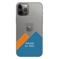 Personaliza tu Funda Gel Silicona Transparente con tu Fotografia para Iphone 12 Pro Max (6.7) dibujo personalizada
