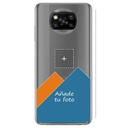 Personaliza tu Funda Gel Silicona Transparente con tu Fotografia para Xiaomi POCO X3 NFC / X3 PRO dibujo personalizada
