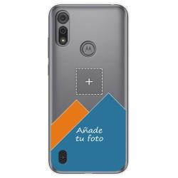 Personaliza tu Funda Gel Silicona Transparente con tu Fotografia para Motorola Moto e6s dibujo personalizada