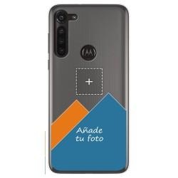 Personaliza tu Funda Gel Silicona Transparente con tu Fotografia para Motorola Moto G8 Power dibujo personalizada