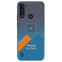 Personaliza tu Funda Gel Silicona Transparente con tu Fotografia para Motorola Moto G8 Power Lite dibujo personalizada