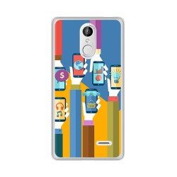 Funda Gel Tpu para Leagoo M5 Diseño Apps Dibujos