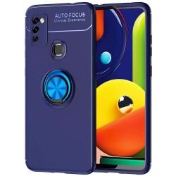 Funda Magnetica Soporte con Anillo Giratorio 360 para Samsung Galaxy M51 Azul