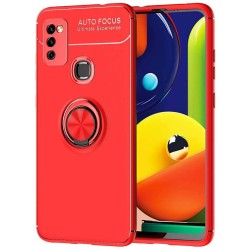 Funda Magnetica Soporte con Anillo Giratorio 360 para Samsung Galaxy M51 Roja