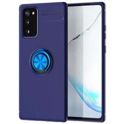 Funda Magnetica Soporte con Anillo Giratorio 360 para Samsung Galaxy S20 FE Azul