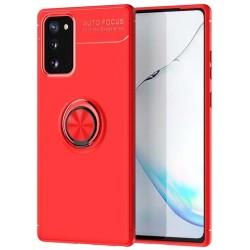 Funda Magnetica Soporte con Anillo Giratorio 360 para Samsung Galaxy S20 FE Roja