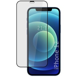Protector Cristal Templado Completo 5D Full Glue Negro para Iphone 12 / 12 Pro (6.1) Vidrio