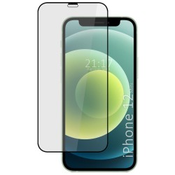 Protector Cristal Templado Completo 5D Full Glue Negro para Iphone 12 Mini (5.4) Vidrio