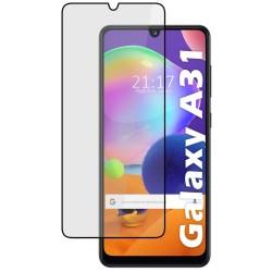 Protector Cristal Templado Completo 5D Full Glue Negro para Samsung Galaxy A31 Vidrio