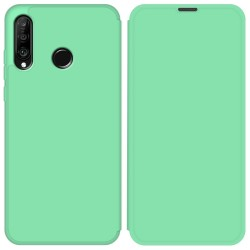 Funda Silicona Líquida con Tapa para Huawei P30 Lite color Verde Pastel