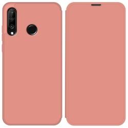 Funda Silicona Líquida con Tapa para Huawei P30 Lite color Rosa Pastel