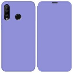 Funda Silicona Líquida con Tapa para Huawei P30 Lite color Morado Pastel