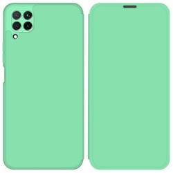 Funda Silicona Líquida con Tapa para Huawei P40 Lite color Verde Pastel