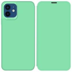 Funda Silicona Líquida con Tapa para Iphone 12 / 12 Pro (6.1) color Verde Pastel